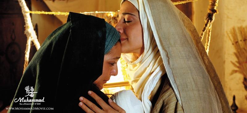 مینا ساداتی و ساره بیات در فیلم محمد رسول الله Muhammad the messenger of god