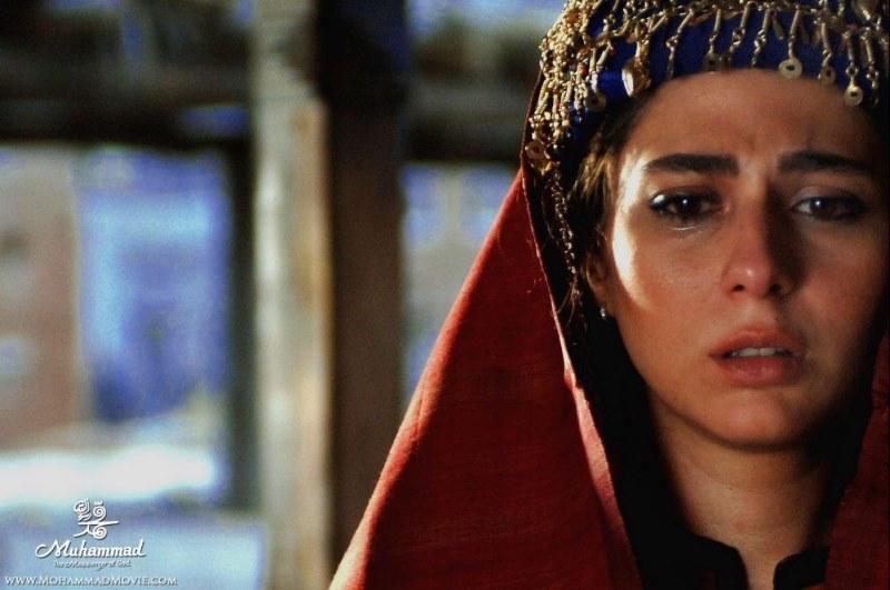 رعنا آزاديور در نقش «امجميل» همسر ابولهب در فیلم محمد رسول الله rana  azadivar iranian actress Muhammad the messenger of god