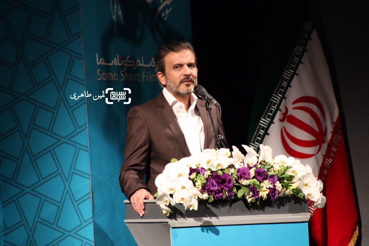 عکس محمدرضا شهیدی فر در نکوداشت رامبد جوان در جشنواره سما