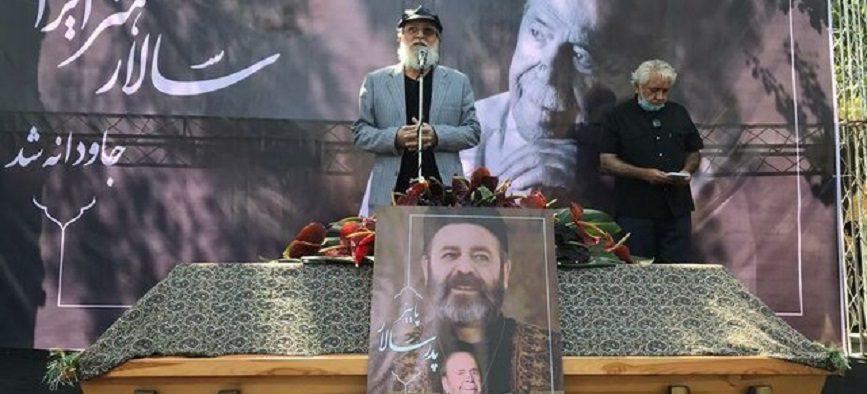 مراسم تشییع پیکر محمدعلی کشاورز/ گزارش تصویری