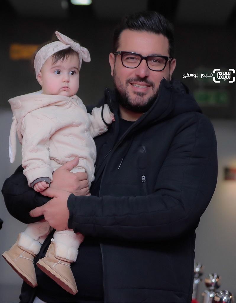 محسن کیاییو دخترش، رز در اکران خصوصی فیلم آستیگمات