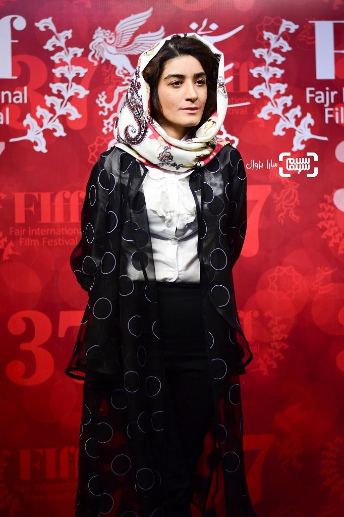 عکس مژگان صابری در روز دوم سی و هفتمین جشنواره جهانی فیلم فجر