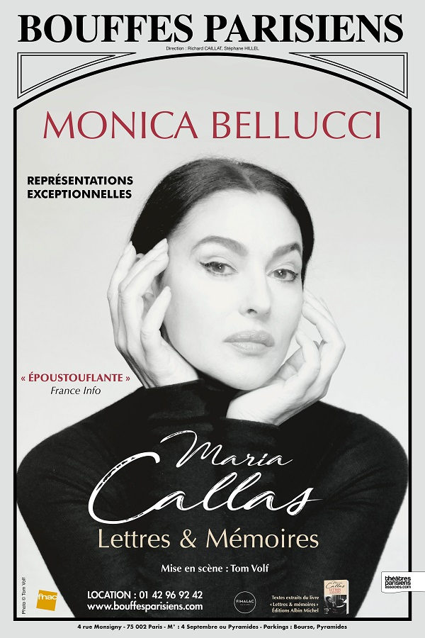 مونیکا بلوچی - تئاتر «ماریا کالاس:نامهها و خاطرات»