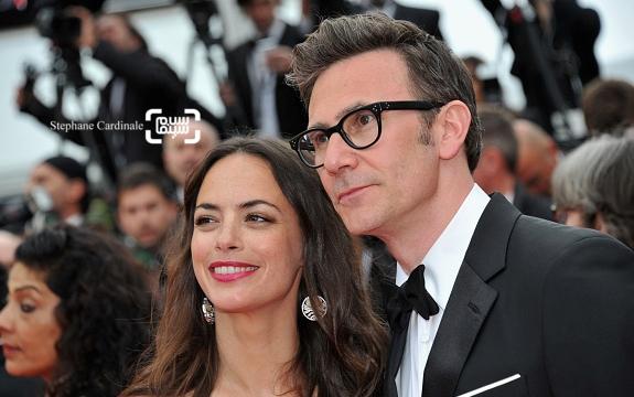 برنیس بژو و همسرش میشل آزاناویسوس در فرش قرمز فیلم «غول بزرگ مهربان»(BFG) در جشنواره فیلم کن 2016