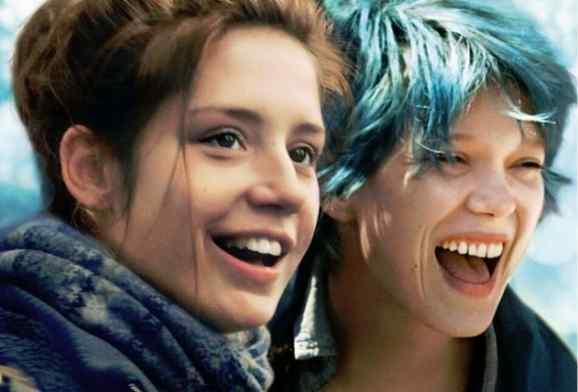 ادل اگزارکوپولوس و لئا سیدو در فیلم «آبی گرمترین رنگ است»(Blue Is The Warmest Color)