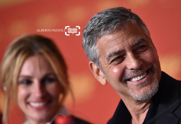 جرج کلونی در کنفرانس خبری فیلم «هیولای پول» در شصت و نهمین جشنواره فیلم کن