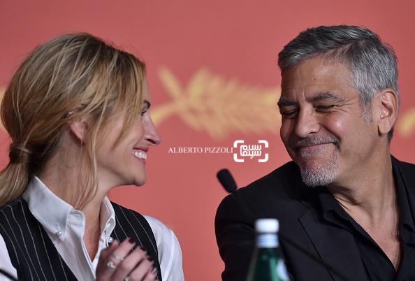 جولیا رابرتس و جرج کلونی در کنفرانس خبری فیلم «هیولای پول» در شصت و نهمین جشنواره فیلم کن