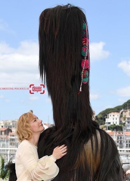 زاندرا هولر در فتوکال فیلم «تونی اردمن»(Toni Erdmann) در شصت و نهمین جشنواره فیلم کن