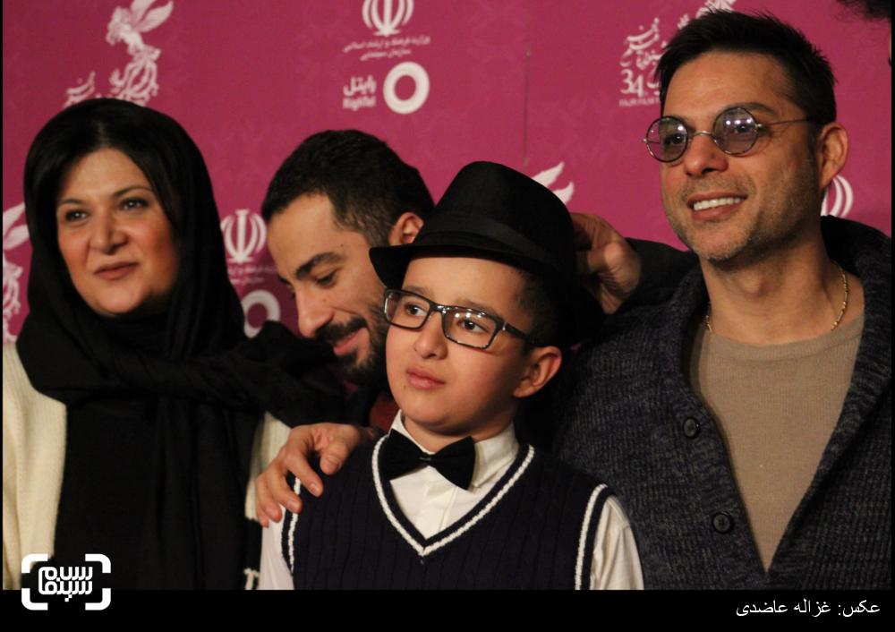 فرش قرمز فیلم «ابد و یک روز» در کاخ سی و چهارمین جشنواره فیلم فجر