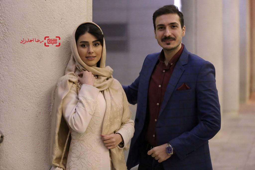 لاله مرزبان و ابوالفضل میری در اکران فیلم «زیر سقف دودی» در جشنواره فیلم فجر35
