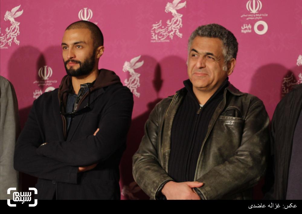 مانی حقیقی و امیر جدیدی در اکران فیلم «من» در کاخ سی و چهارمین جشنواره فیلم فجر