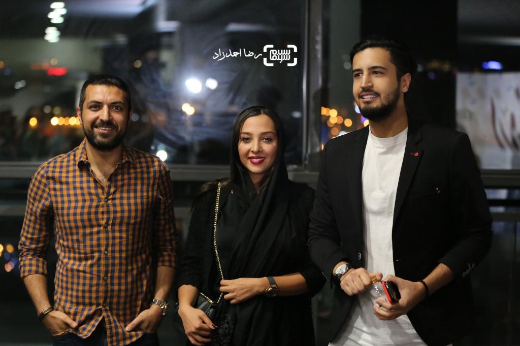 اشکان خطیبی، مهرداد صديقيان و آناهیتا درگاهی در اکران خصوصی فیلم «اروند»
