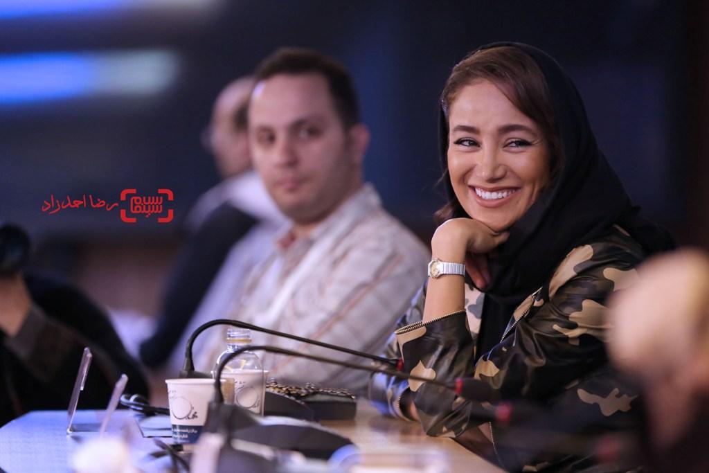 بهاره افشاری در نشست خبری فیلم «گشت 2» در جشنواره فیلم فجر35