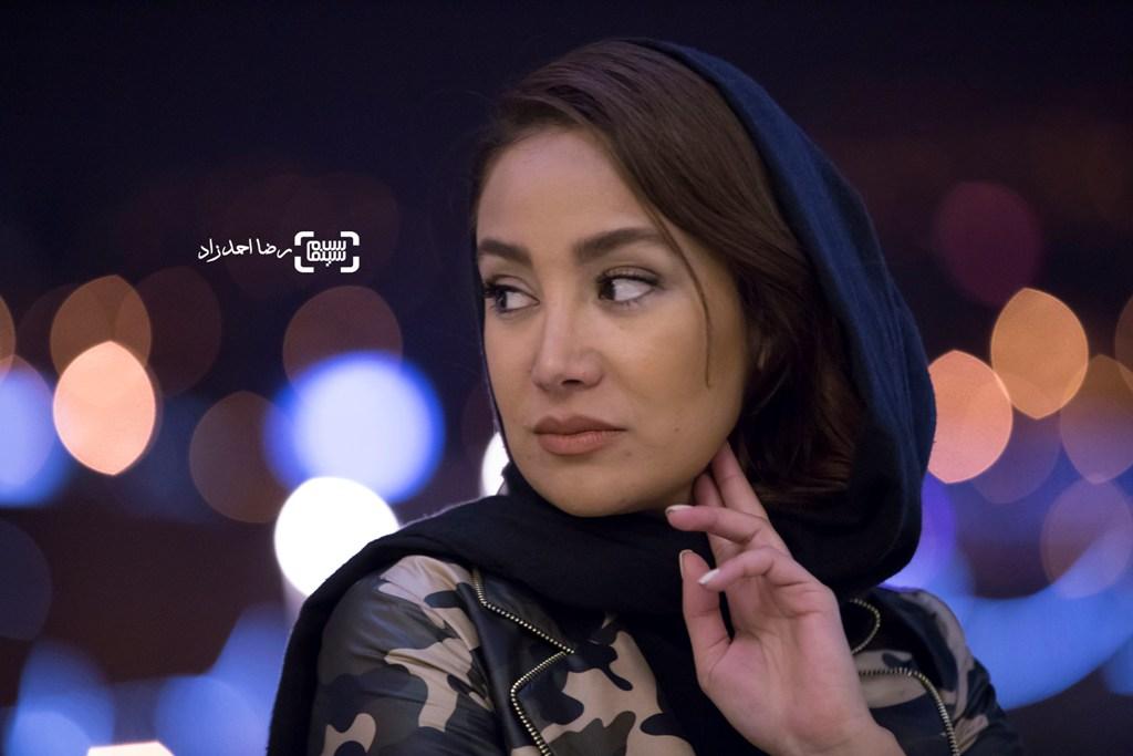 بهاره افشاری در اکران فیلم «گشت 2» در سی و پنجمین جشنواره فیلم فجر