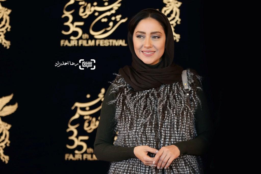 بهاره کیان افشار در اکران فیلم «کمدی انسانی» در سی و پنجمین جشنواره فیلم فجر