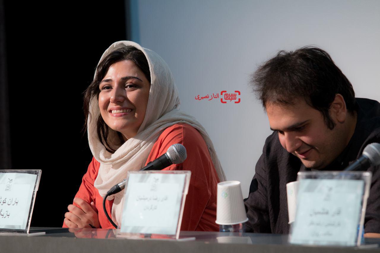 باران کوثری و رضا درمیشیان در اکران فیلم «لانتوری» در جشنواره فیلم سلامت
