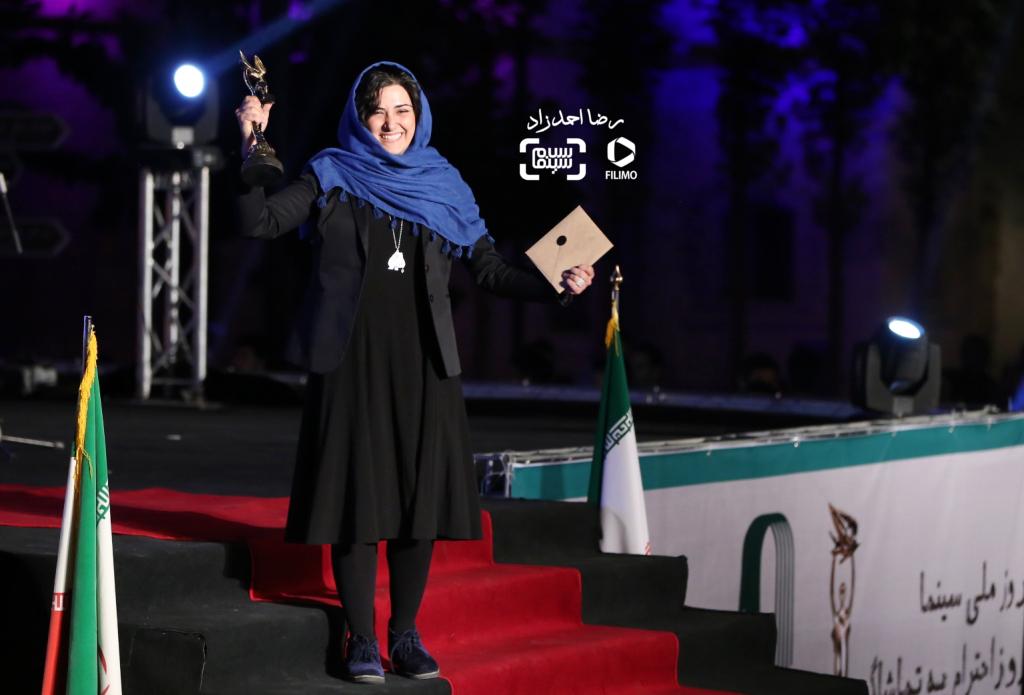 باران کوثری برنده جایزه بهترین بازیگر زن برای بازی در فیلم «کوچه بینام» در هجدهمین جشن خانه سینما