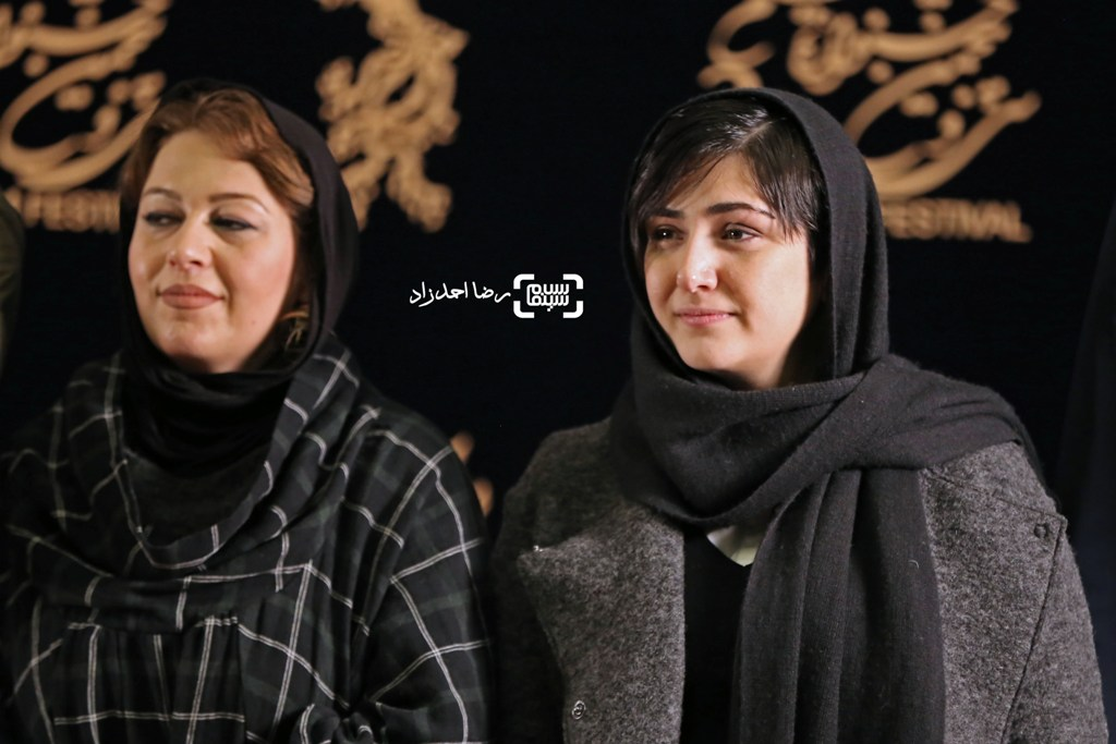 باران کوثری در اکران فیلم «سد معبر» در سی و پنجمین جشنواره فیلم فجر