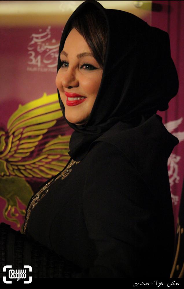 بهنوش بختیاری در اکران «من» در کاخ سی و چهارمین جشنواره فیلم فجر