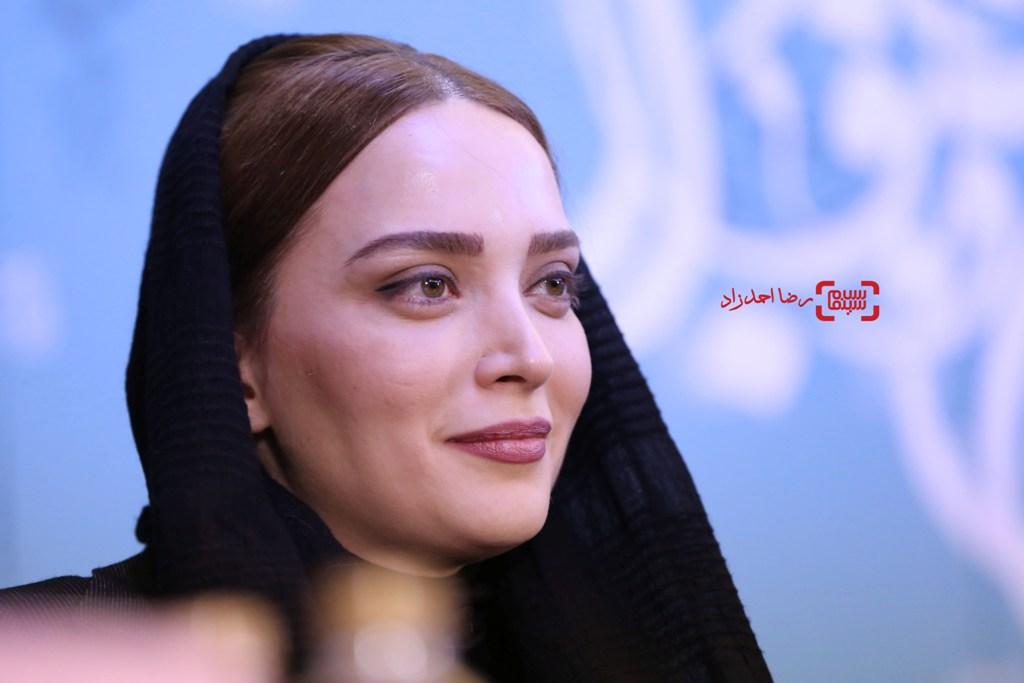 بهنوش طباطبایی در نشست خبری «زیر سقف دودی» در جشنواره فیلم فجر35