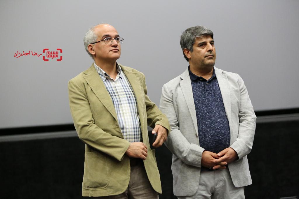 بيژن ميرباقری و جواد نوروزبیگی در اکران خصوصی فیلم «ربوده شده»