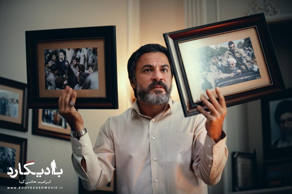 امیر آقایی در نمایی از فیلم «بادیگارد»
