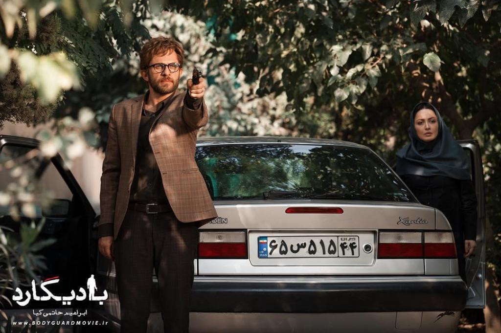 شیلا خداداد و بابک حمیدیان در نمایی از فیلم «بادیگارد»
