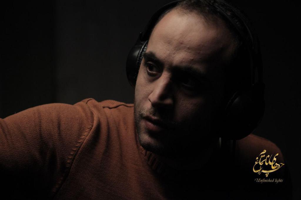 مصطفی سلطانی در پشت صحنه فیلم سینمایی «چراغ های ناتمام»