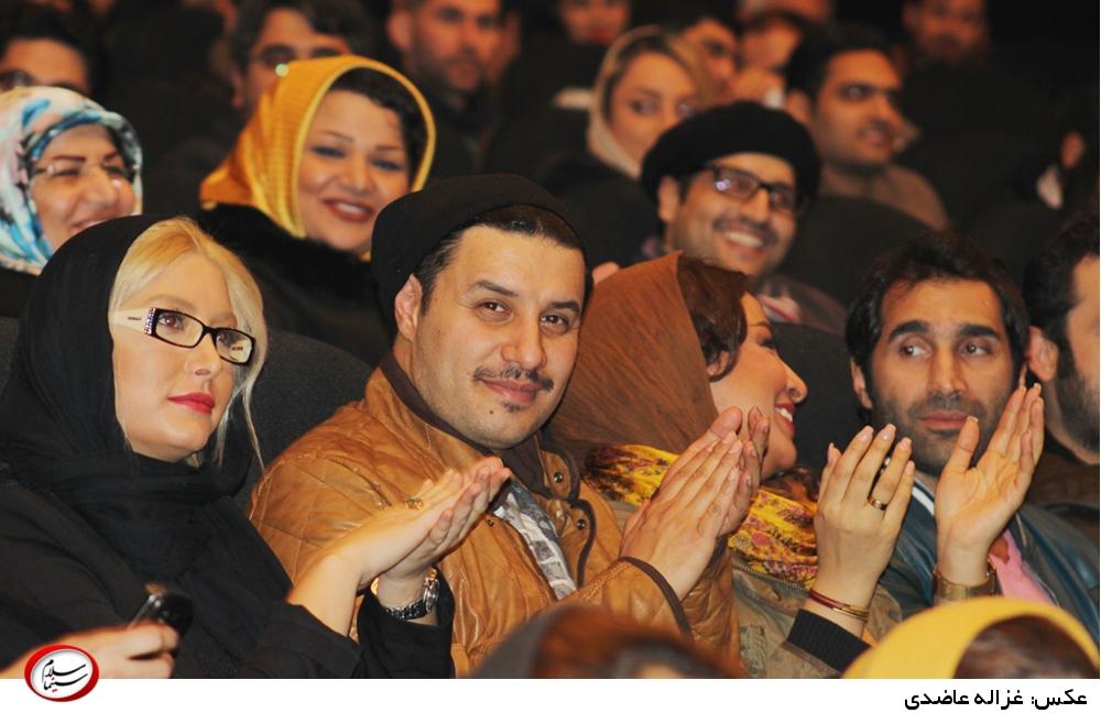جواد عزتی و فریبا نادری در اکران خصوصی فیلم «در مدت معلوم»