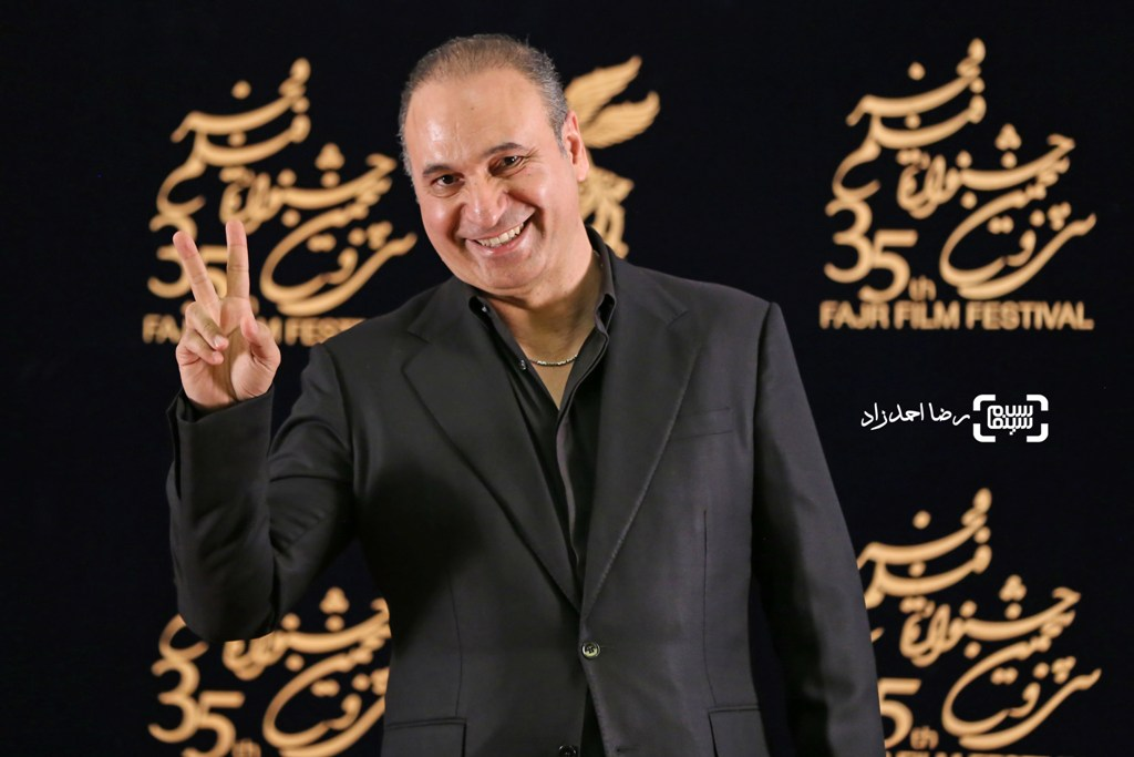 حمید فرخ نژاد در اکران فیلم «گشت 2» در سی و پنجمین جشنواره فیلم فجر