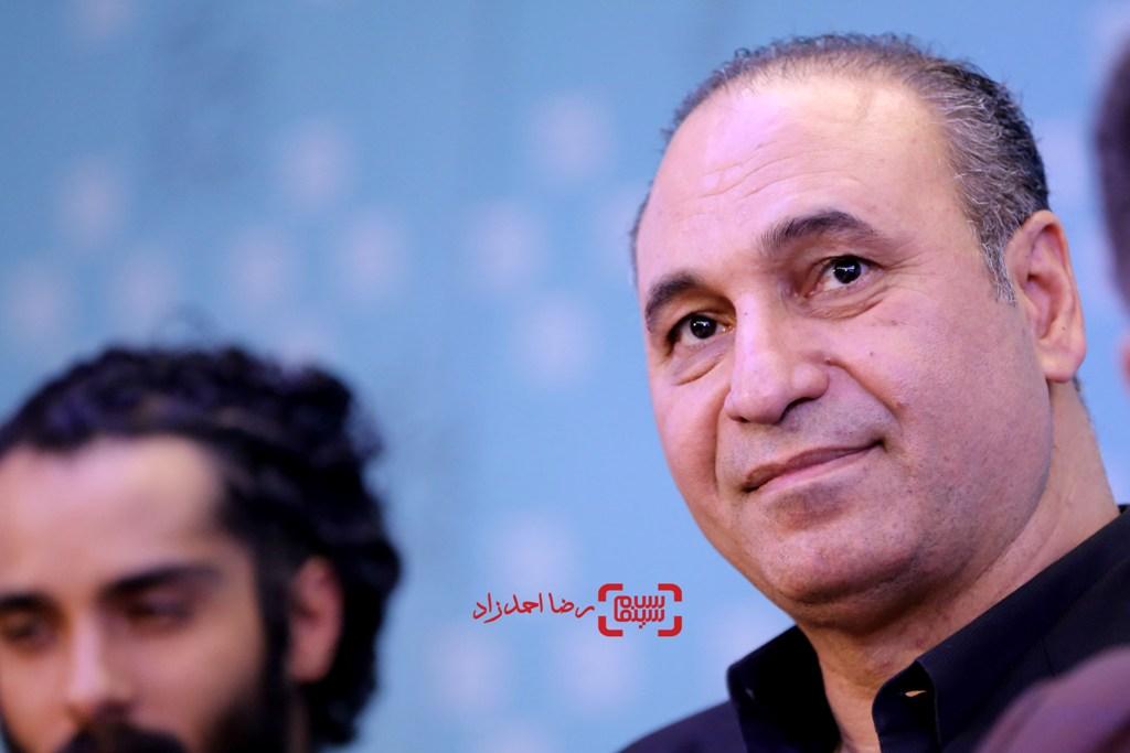 حمید فرخ نژاد در نشست خبری فیلم «گشت 2» در سی و پنجمین جشنواره فیلم فجر