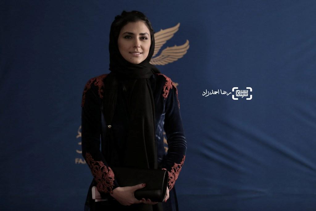 هدی زین العابدین در اکران «اسرافیل» در سی و پنجمین جشنواره فیلم فجر