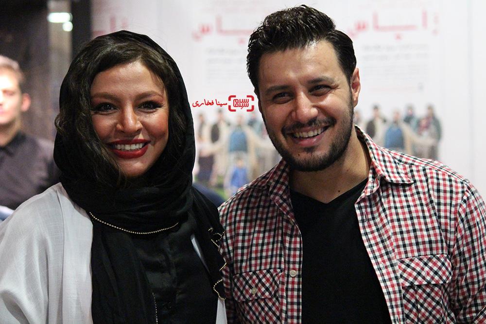 جواد عزتی و همسرش مه لقا باقری در اکران خصوصی فیلم «زاپاس»