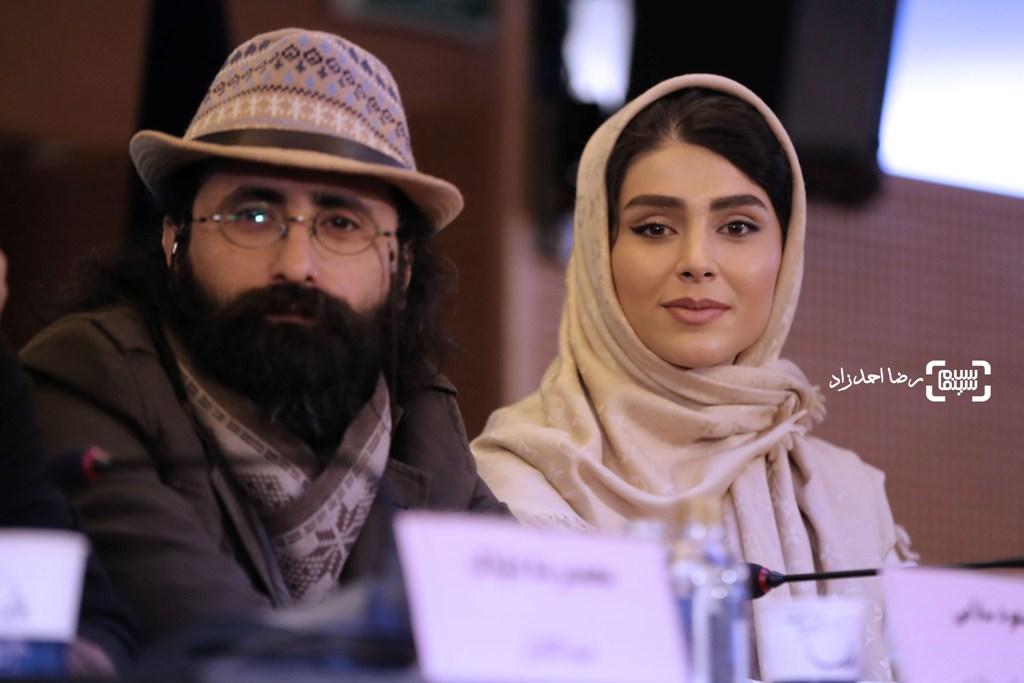 لاله مرزبان در نشست خبری فیلم «زیر سقف دودی» در جشنواره فجر35