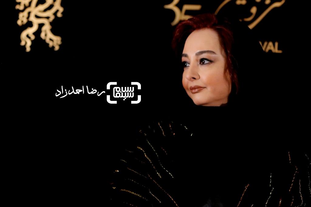 ماهایا پطروسیان در اکران فیلم «خفه گی» در سی و پنجمین جشنواره فیلم فجر