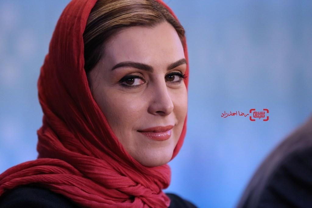 ماه چهره خلیلی در نشست خبری فیلم «اشنوگل» در سی و پنجمین جشنواره فیلم فجر