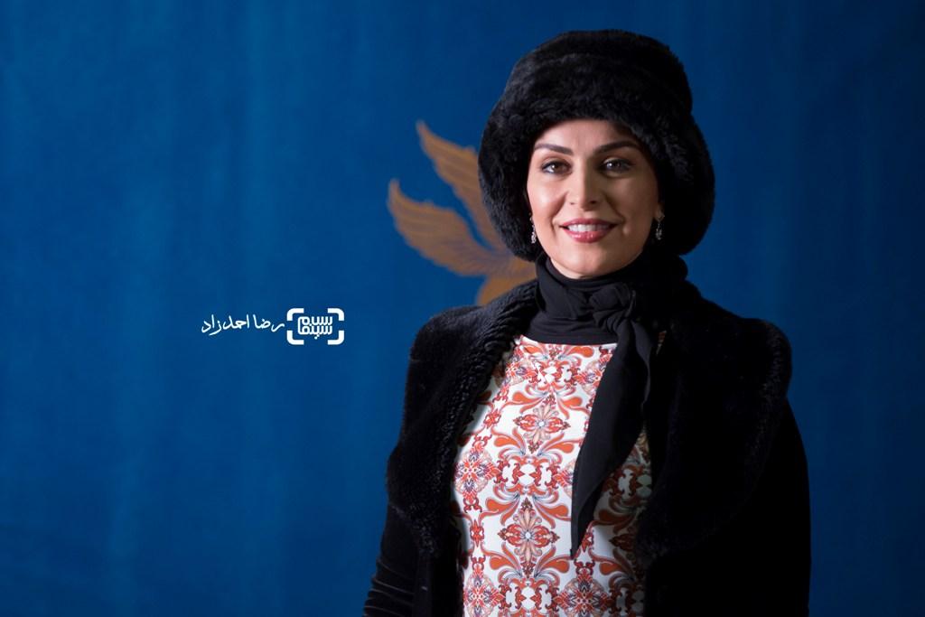 ماه چهره خلیلی در اکران فیلم «یادم تو را فراموش» در سی و پنجمین جشنواره فیلم فجر