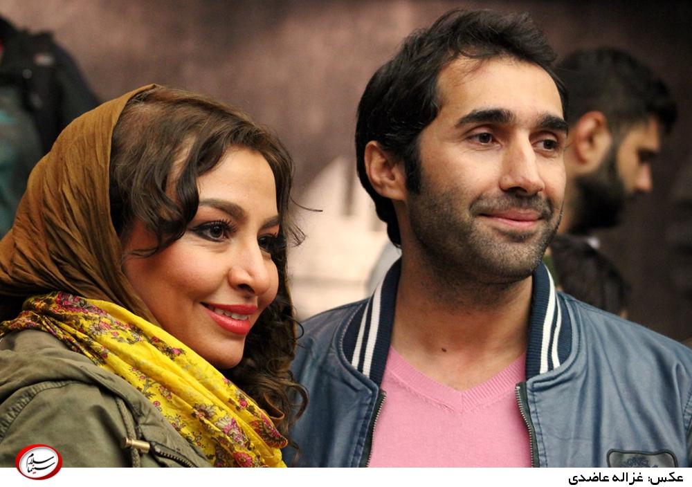 مه لقا باقری و هادی کاظمی در اکران خصوصی فیلم «در مدت معلوم»