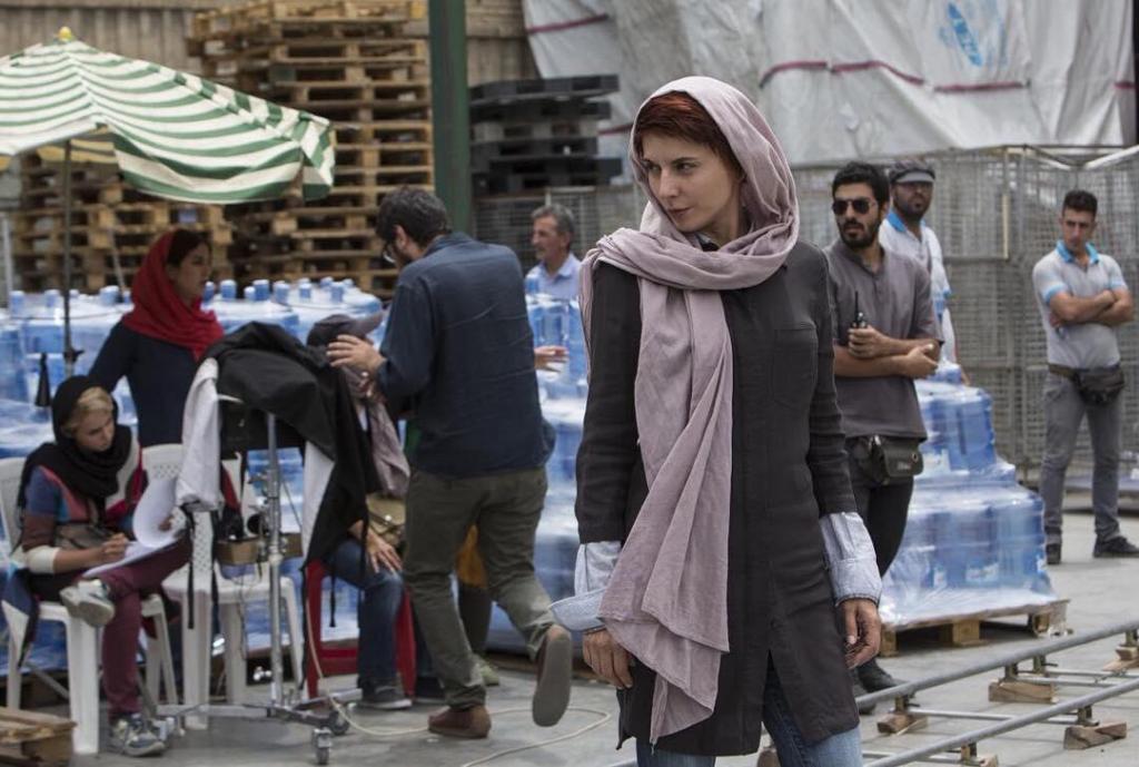 لیلا حاتمی در پشت صحنه فیلم «من»