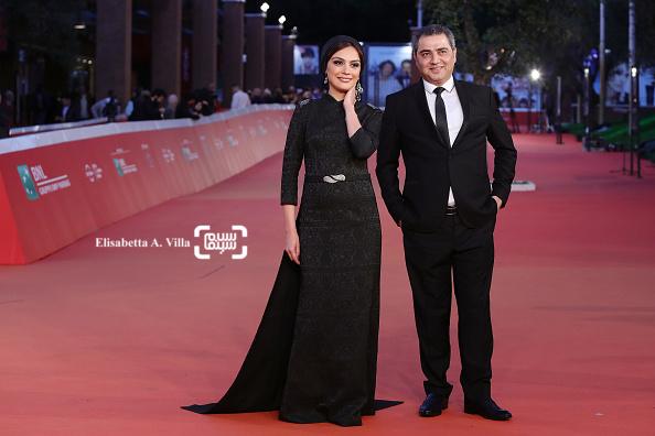 مارال فرجاد و اتابک نادری در فرش قرمز فیلم «جاودانگی» در جشنواره فیلم رم