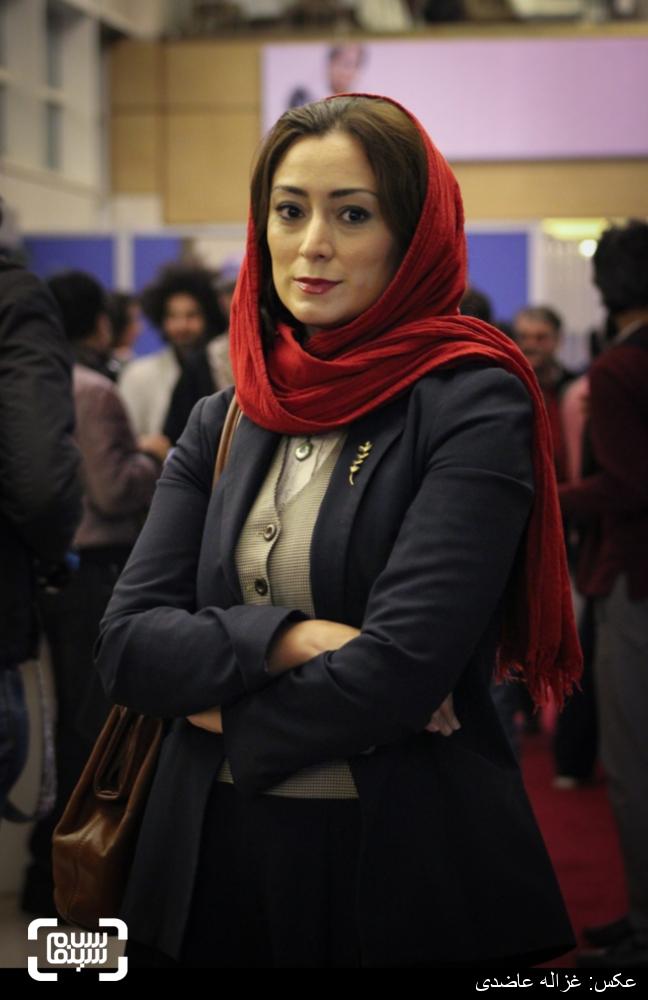 مریم پالیزبان در اکران فیلم «لانتوری» در کاخ سی و چهارمین جشنواره فیلم فجر