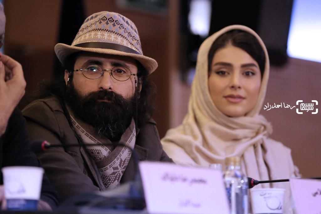 مسعود سلامی در نشست خبری فیلم «زیر سقف دودی» در سی و پنجمین جشنواره فیلم فجر