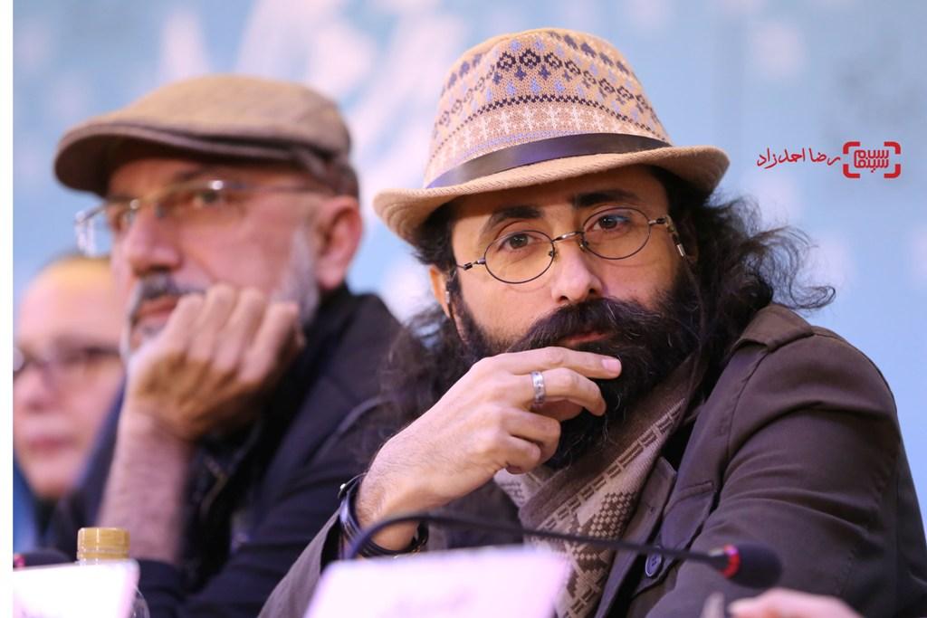 مسعود سلامی در نشست خبری «زیر سقف دودی» در سی و پنجمین جشنواره فیلم فجر