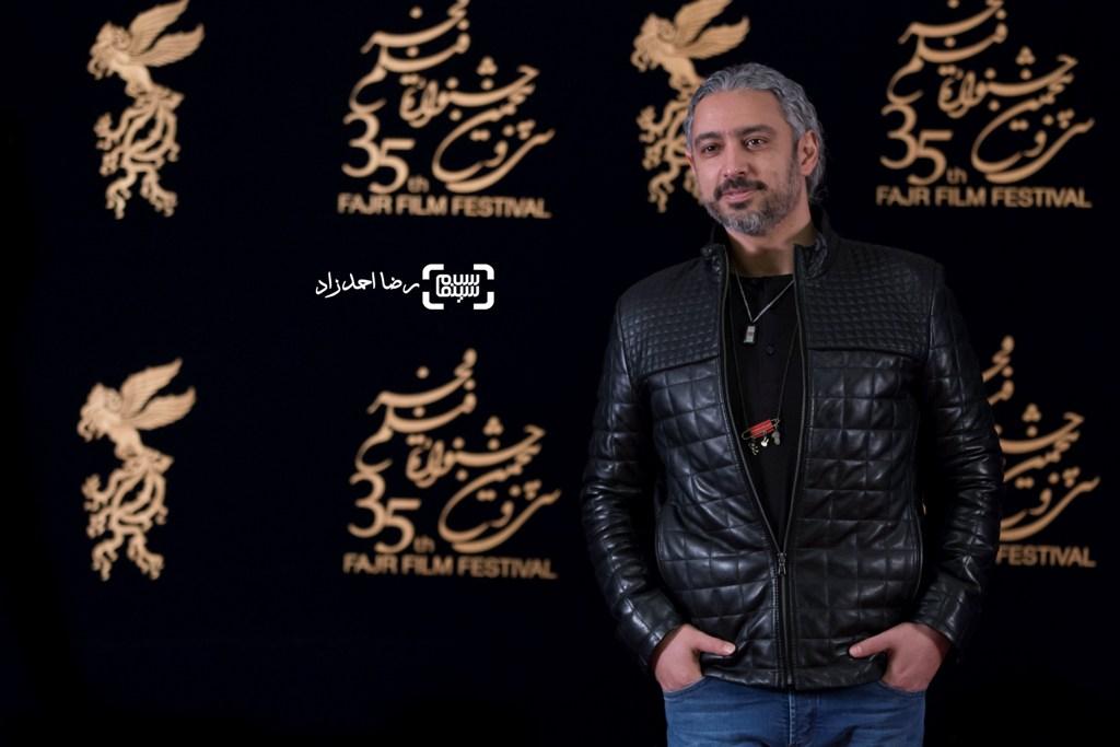 مازیار فلاحی در اکران فیلم «یادم تو را فراموش» در سی و پنجمین جشنواره فیلم فجر