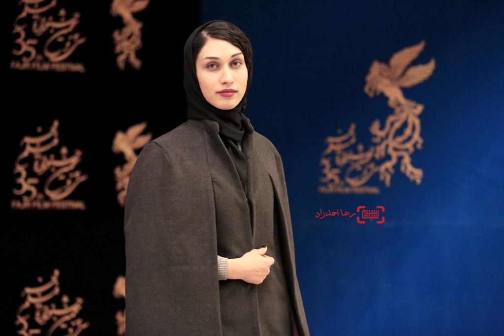 محدثه حیرت در نشست خبری «خانه»(ائو) در جشنواره فیلم فجر35