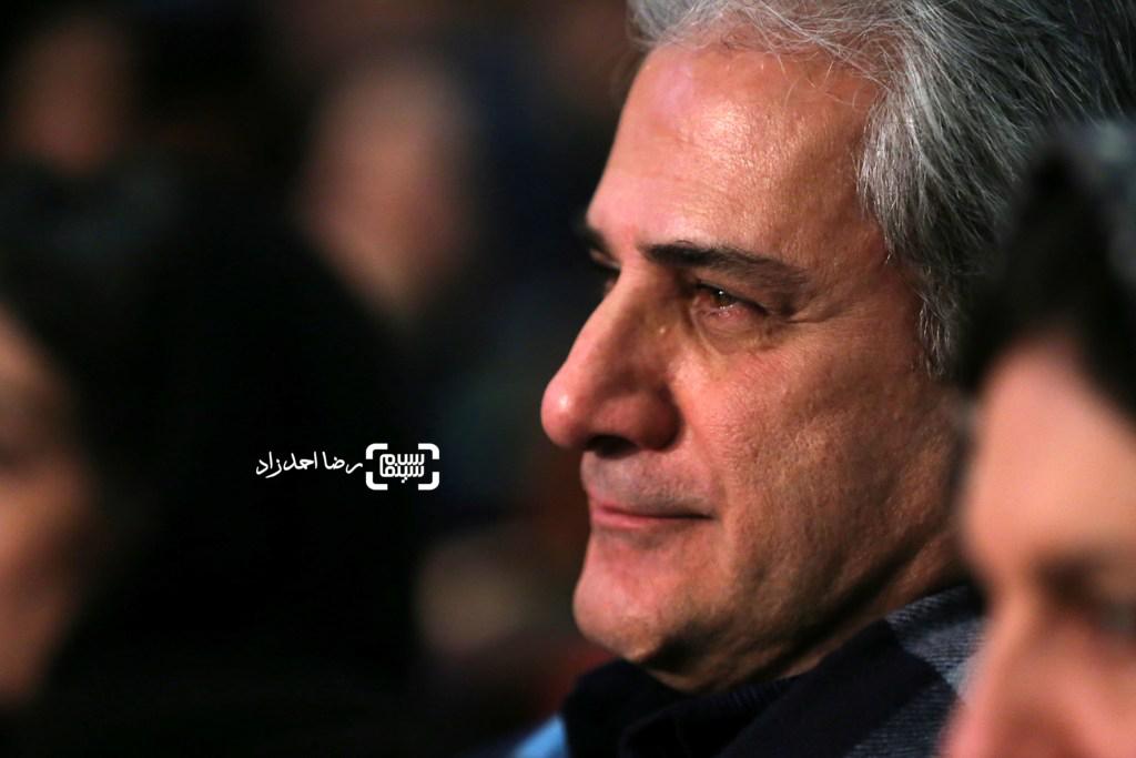 ناصر هاشمی بازیگر فیلم «خانه دیگری» در افتتاحیه سی و پنجمین جشنواره فیلم فجر
