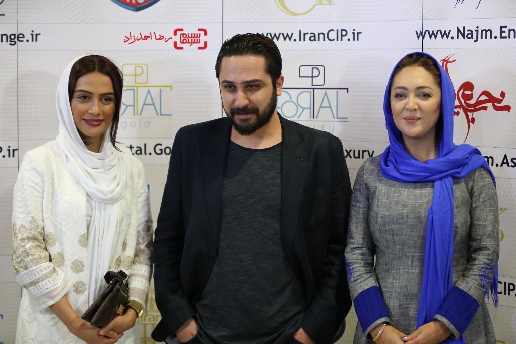نیکی کریمی، روزبه بمانی و مارال فرجاد در اکران خصوصی فیلم «ربوده شده»