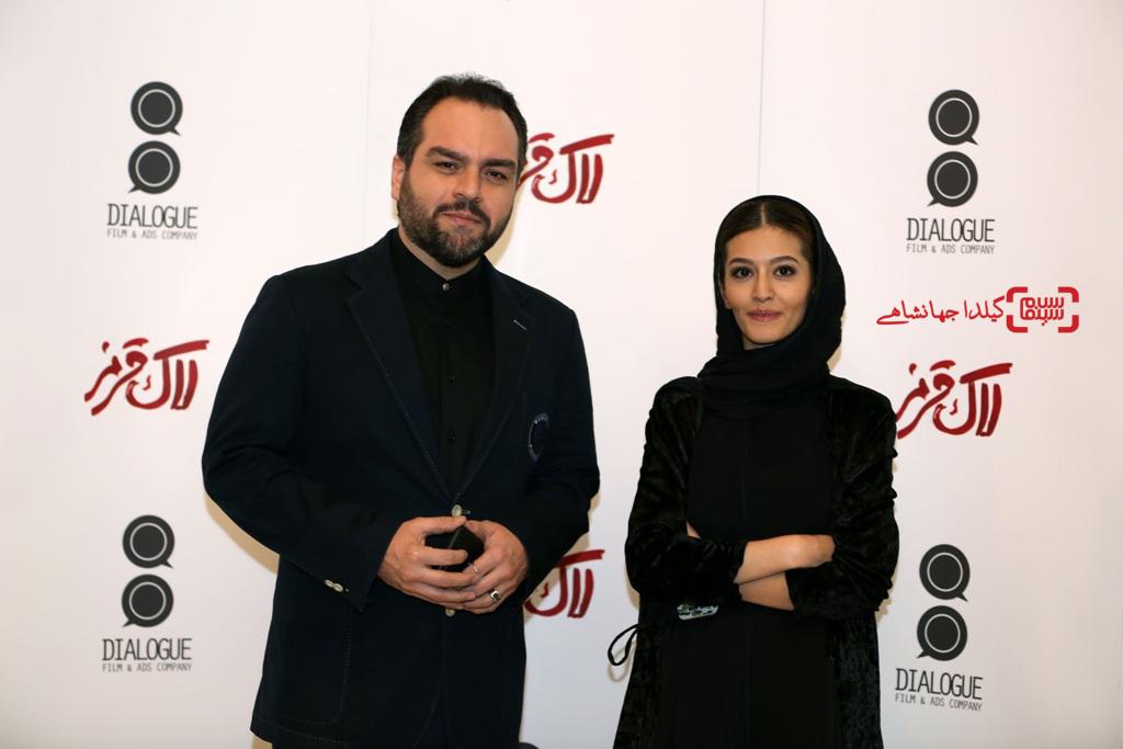 شهرام قائدی و پردیس احمدیه در اکران خصوصی فیلم «لاک قرمز»