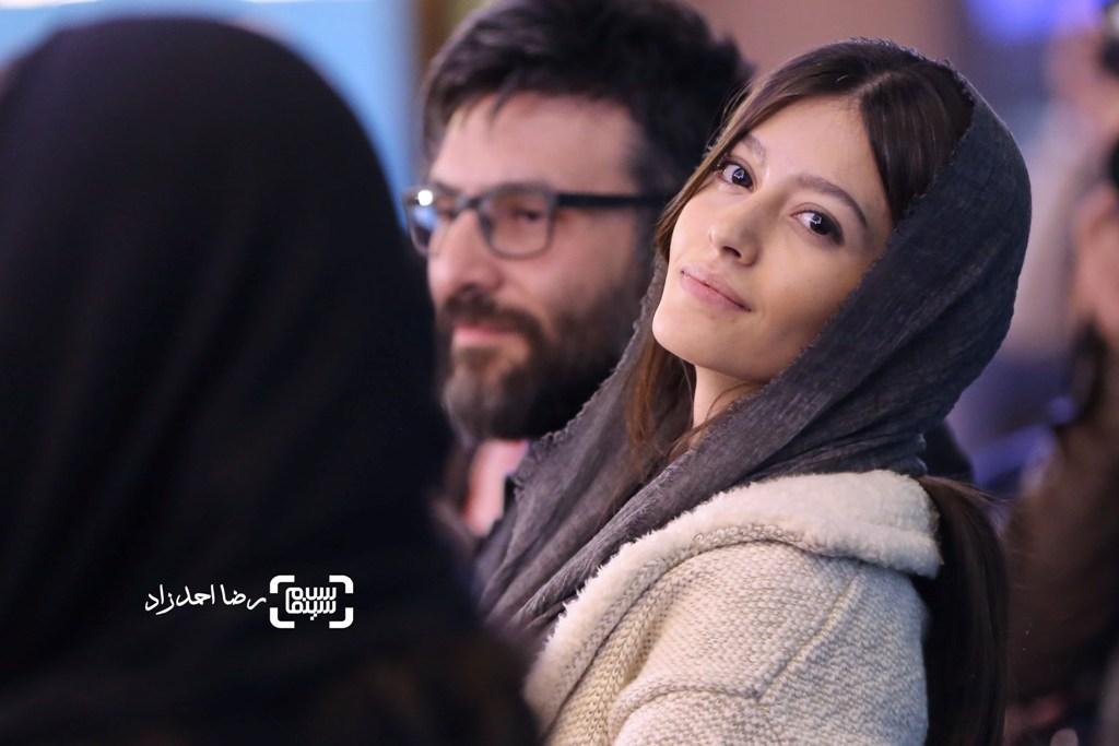 پردیس احمدیه در نشست خبری فیلم «خفه گی» در جشنواره فیلم فجر35