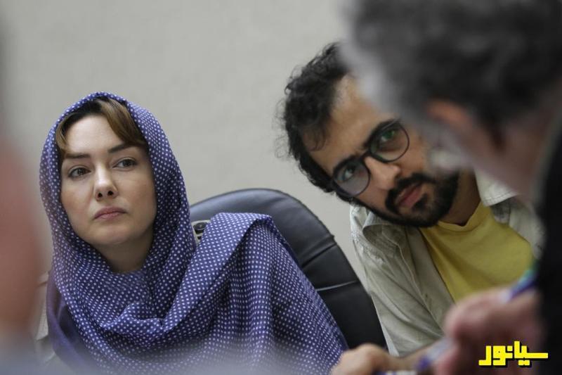 بهروز شعیبی و هانیه توسلی در جلسه دورخوانی فیلم «سیانور»